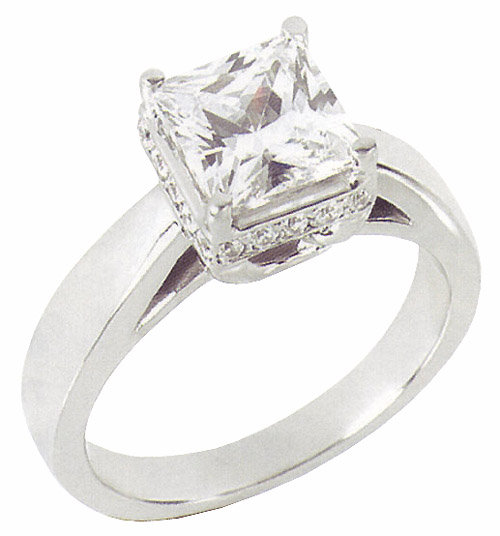 2.51 carats diamond engagement ring solitaire princess