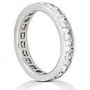Diamonds F VS1 eternity wedding band 13.20 cts. gold
