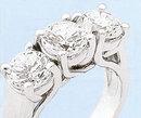 ENGAGEMENT RING THREE STONE 3 ct DIAMOND bridal jewelry