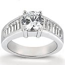 Big diamonds engagement ring 4.25 Carats gold ring new