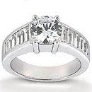 Big diamonds engagement ring 4.25 Carats gold ring new