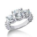 4.51 Carat diamond 3 stone ring F VVS1 diamonds & gold
