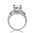 Emerald cut diamonds ring 3.51 Ct. diamonds gold ring