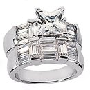 4.01 Carats diamond engagement band ring set gold new