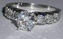 6.21 ct diamond engagement ring & band PLATINUM F VVS1