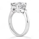 BIG RING 3.51 Ct. diamonds & gold emerald cut WEDDING