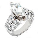 Big diamond ring marquise cut diamonds 4.75 ct. ring