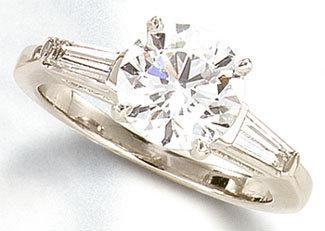 F VVS1/VS1 3.21 ct diamond engagement ring PLATINUM