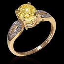 3.25 ct. certified yellow diamonds engagement ring new