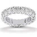 12.10 Cts. Diamond eternity wedding band F VS1 diamonds