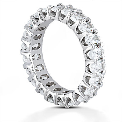 12.10 Cts. Diamond eternity wedding band F VS1 diamonds