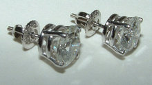 4 CARAT solitaires NEW diamond stud earrings ear ring