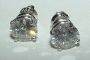 4 CARAT solitaires NEW diamond stud earrings ear ring