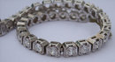 15.85 carats VS DIAMOND half bezel new TENNIS BRACELET