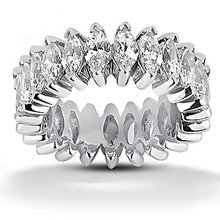Gorgeous 11 Ct. diamonds marquise cut wedding band ring