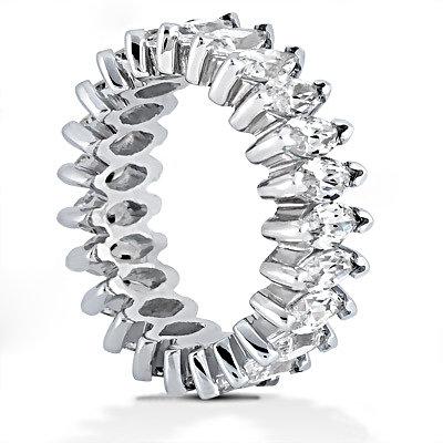 Gorgeous 11 Ct. diamonds marquise cut wedding band ring