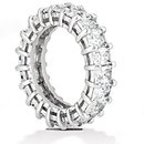 Emerald cut diamonds eternity wedding band 12 Cts. new