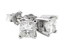 F VS1 diamond stud earrings white gold 4 ct. jewelry