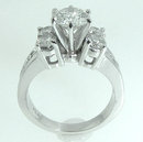 5.01 carats DIAMOND engagement ring large 2.51 carat