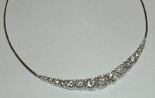 10 carat large DIAMOND NECKLACE graduated diamonds