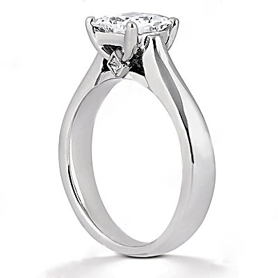 F VS1 solitaire DIAMOND ENGAGEMENT RING 1.25 ct.