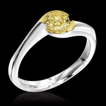 Yellow canary diamond solitaire ring 1.51 ct. ring gold