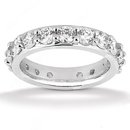 2.71 Carat women's eternity wedding band gold jewelry