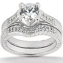 1.77 cts diamond wedding ring white gold F VS1 diamonds