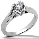 White gold 3 ct DIAMOND F VS1 solitaire engagement ring