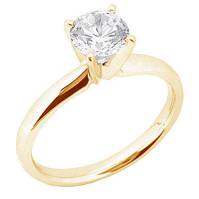 Big 3 carat diamond anniversary ring 4 prong set gold