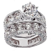 10 carats diamonds engagement ring band set PLATINUM