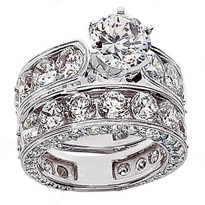10 carats diamonds engagement ring band set PLATINUM