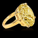 5.01 ct. yellow canary ring oval cut diamond solitaire