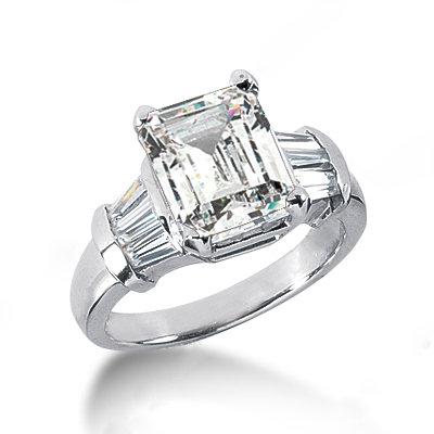 diamonds baguette cut ring white gold anniversary ring