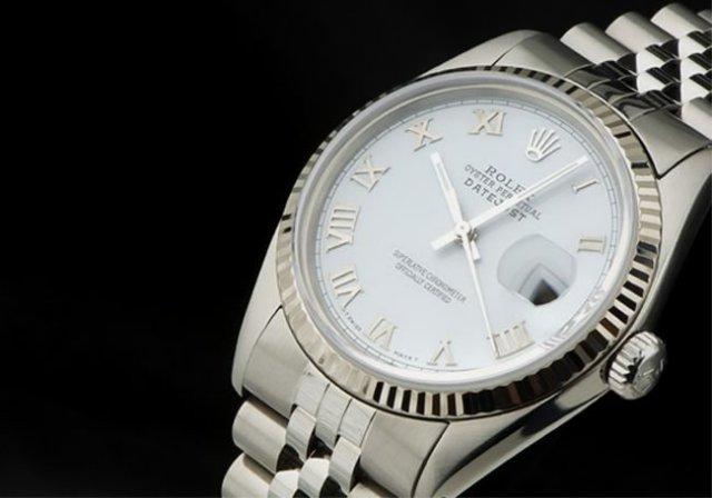 Rolex watch DATE-JUST stainless steel roman jubilee SS
