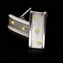 Yellow canary diamonds 0.50 ct. earrings push back