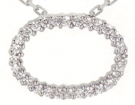 2.01 carat Oval Expensive Diamond Jewelry gold necklace