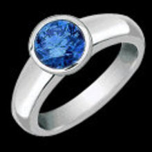 1.20 carat blue diamond solitaire engagement ring new
