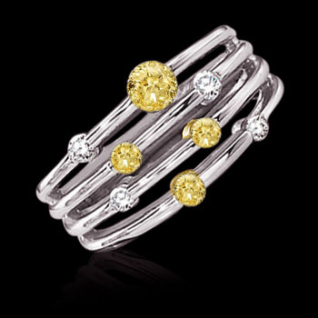 1.01 ct. yellow canary diamonds engagement ring gold