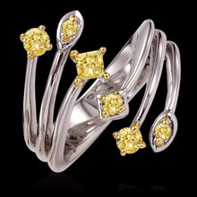1 carat certified yellow canary diamonds ring gold new