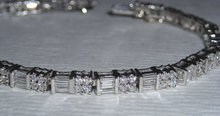 4 carats diamond tennis bracelet white gold baguettes