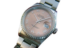 Rolex datejust ladies watch rose roman dial date just