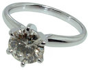 1.51 carat E VVS1 diamond solitaire engagement ring