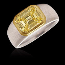 1.25 ct. Emerald cut yellow canary diamond solitaire