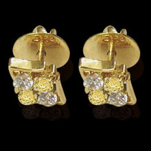 2 ct. fancy yellow diamonds screw back earrings pair