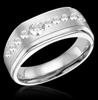 1.75 carat diamonds mens wedding band gold white gents