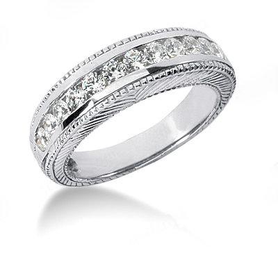Beautiful 1.41 Carat diamonds engagement set white gold