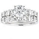 1.5 Ct. diamonds ring white gold engagement set diamond