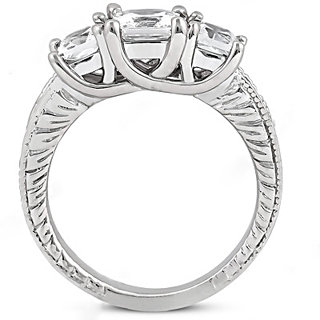 1.87 Ct. DIAMOND RING three stone wedding diamond ring