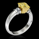 1.25 carat yellow canary emerald cut diamond ring gold
